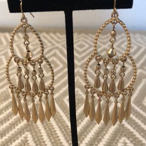 "3"" chandelier gold Tone earring NW"
